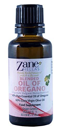 Zane Hellas 40% de aceite de orégano.  Aceite esencial griego puro de orégano .86% de carvacrol.  Min.52 mg de carvacrol por porción.  Probablemente el mejor ...