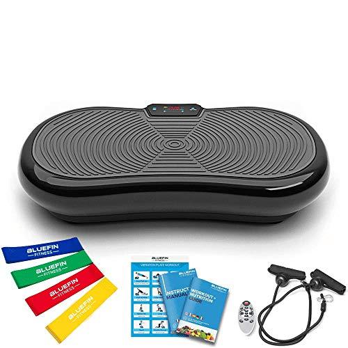Bluefin Fitness Ultra Slim Vibration Plate |  5 programas + 180 niveles |  Altavoces Bluetooth |  Pequeño tamaño |  Diseño hecho en el Reino Unido |  Rendimiento duradero ...