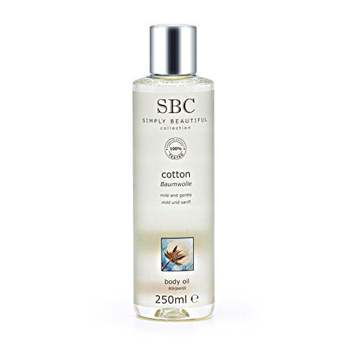 Gel de algodón aceite corporal SBC, 250 ml