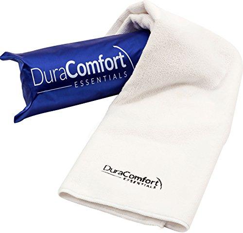 Toalla de pelo anti absorbente de microfibra súper absorbente DuraComfort Essentials, gran 41 x 19 pulgadas blanco