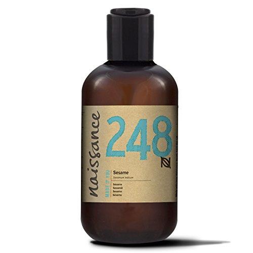 Aceite de sésamo Naissance - Aceite vegetal 100% puro, prensado en frío, vegano, libre de transgénicos - 250 ml