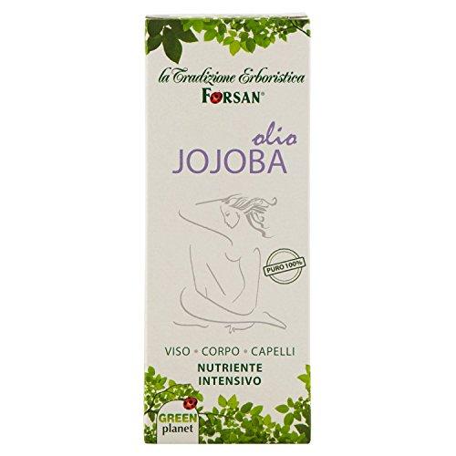 The Forsan Herbal Tradition - Aceite de jojoba 100% puro - Aceite nutritivo para masajes corporales, faciales y de pelo - 50 ml
