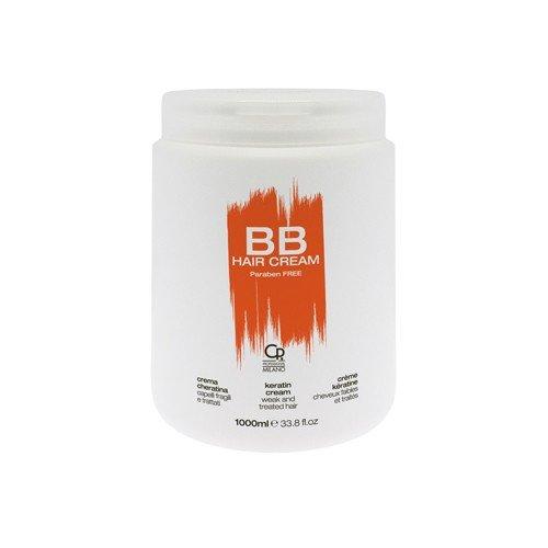 BB Hair Care - Crema de queratina - Máscara profesional ideal para los cabellos tratados y debilidades - Tratamiento acondicionador reparador y revitalizante - 1 L
