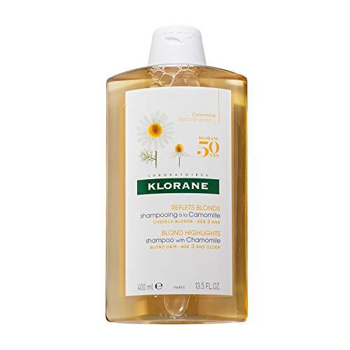 Klorane - Champú de manzanilla para cabellos rubios, 400 ml
