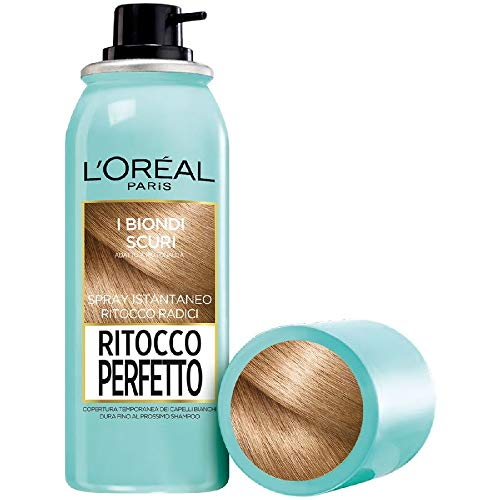 L'Oréal Paris Perfect Touch Touch, spray corrector instantáneo para raíces y canas, color: rubio oscuro, 75 ml