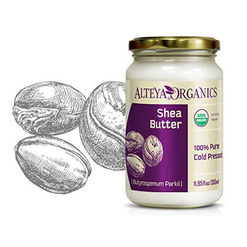 Manteca de karité orgánica Alteya 350 ml - Manteca de karité natural orgánica certificada 100% USDA (Butyrospermum parkii) refinada