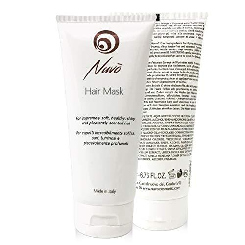 Nuvo Caracol Máscara para el cabello enriquecida con queratina vegetal, aceite de almendras, aceite de jojoba tratamiento de reestructuración 100% fabricado en España 200 ml