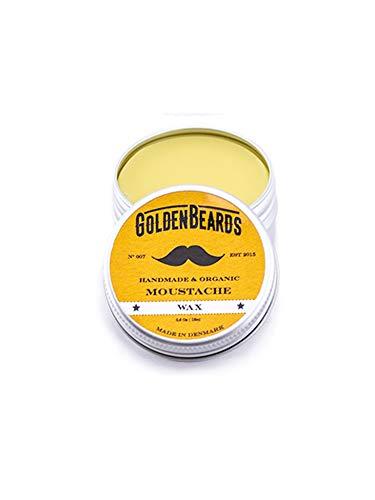 Cera orgánica de bigote, 100% natural, 15 ml con aceite de jojoba, argán y albaricoque, hidrata la barba y la piel.  Cuida tu barba con el producto perfecto ...