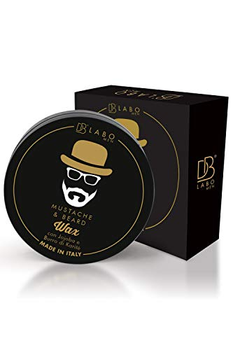Dblabo Bigote y Cera de Barba para Hombres x Cuidado y estilismo - Hecho en España - Modelado, hidratación, protección - Pelo nutrido durante todo el día