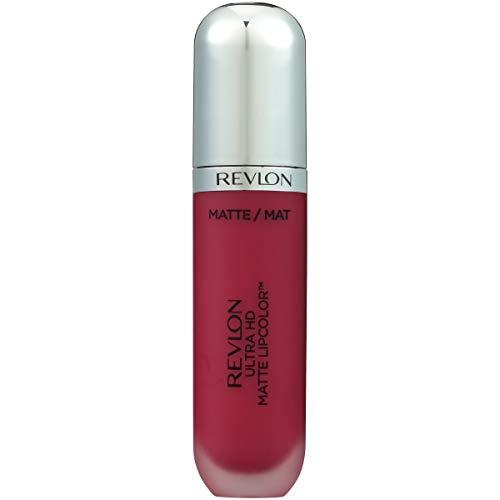 Revlon, color de labios ultra HD mate, lápiz labial líquido con efecto mate con color de alta definición (etiqueta italiana no garantizada)