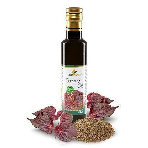 Aceite de semilla de perilla prensado en frío orgánico certificado 250 ml Biopurus