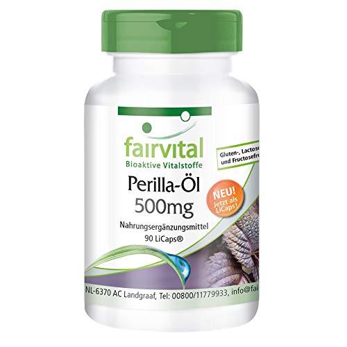 Aceite de perilla 500 mg - durante 1 mes - veganos - dosis elevada - 90 LiCaps® - rico en ácido alfa-linolénico