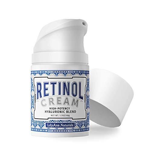 Crema hidratante retinol para ojos y rostro, uso día y noche - para el envejecimiento, el acné y las arrugas - elaborado con ingredientes naturales y orgánicos - 1,07 oz por Lilyan ...