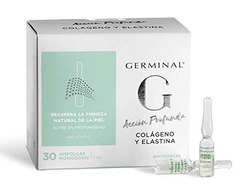 Germinal: suero en viales para un efecto reafirmante y nutritivo de la cara, con colágeno y elastina - Acción profunda - 30 viales x 1 ml