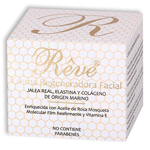 Crema regeneradora REVE con jalea real + elastina y colágeno de origen marino + vitamina E