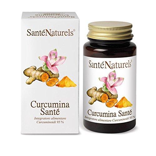 Curcumina pura titulada al 95% en curcuminoides en cápsulas vegetales |  Sin otros ingredientes añadidos |  Apto para vegetarianos y veganos |  Origen de la materia prima: India