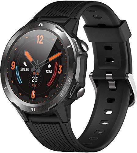 Reloj de reloj físico ORYTO SmartWatch para hombre, reloj inteligente impermeable de 5 ATM, monitor de ritmo cardíaco, podómetro de muñeca, seguidor de actividades deportivas, para niños ...