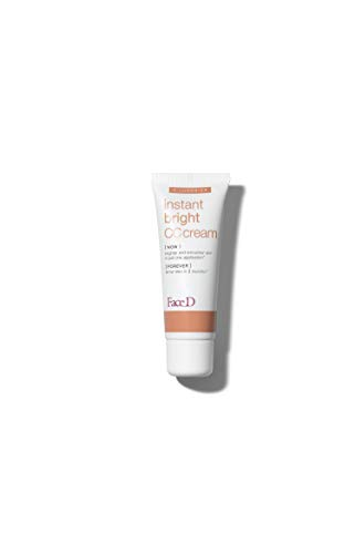 Faced - Crema CC, Crema correctora de color con ácido hialurónico y SPF 20, claro, 40 ml