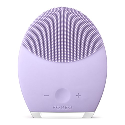 Forés LUNA 2, cepillo personalizador de limpieza facial y masaje anti-envejecimiento, púrpura