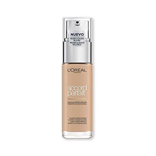 L'Oréal Paris MakeUp Accord Parfait Foundation, efecto natural, enriquecido con ácido hialurónico, vainilla 2.ñ / vainilla, 30 ml, 1 paquete