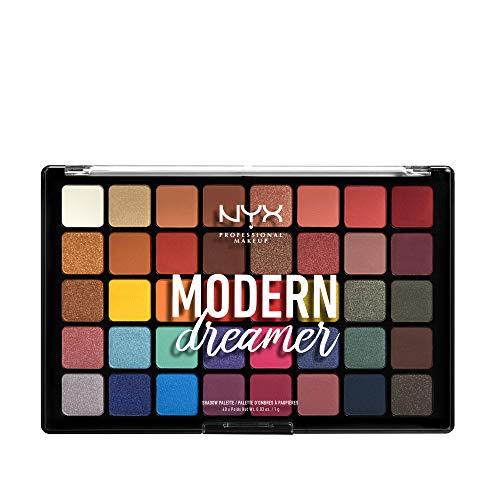 NYX Profesional Makeup Modern Dreamer Paleta de sombras de ojos, 40 colores en polvo, mate, laminado y acabado satinado, 1 paquete
