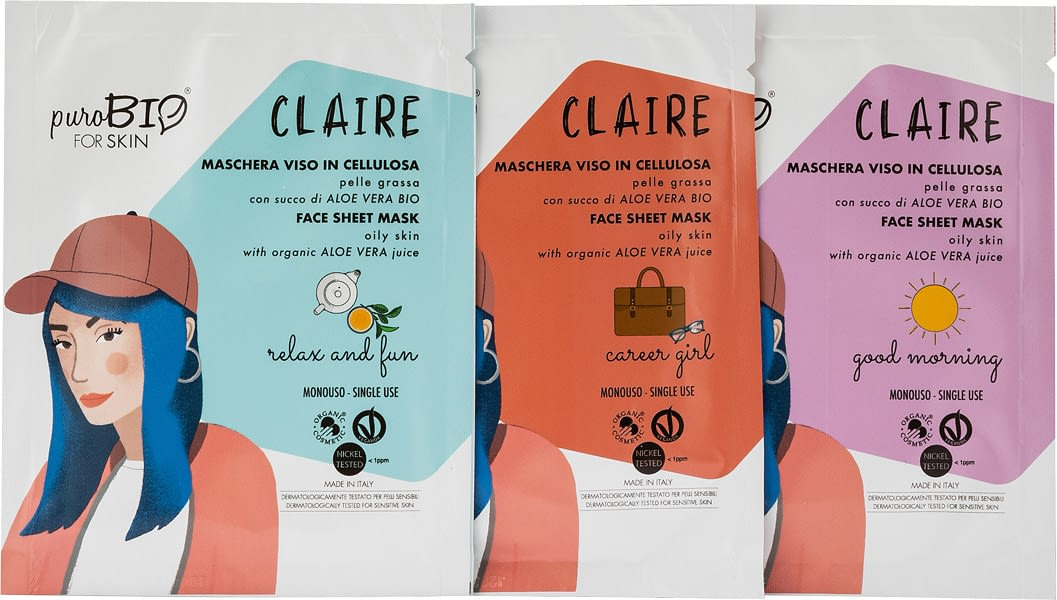 Claire Purobio para la máscara facial de la piel