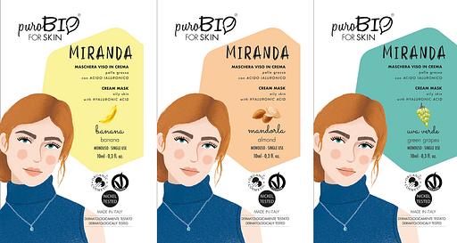 Miranda Purobio para la máscara facial de la piel