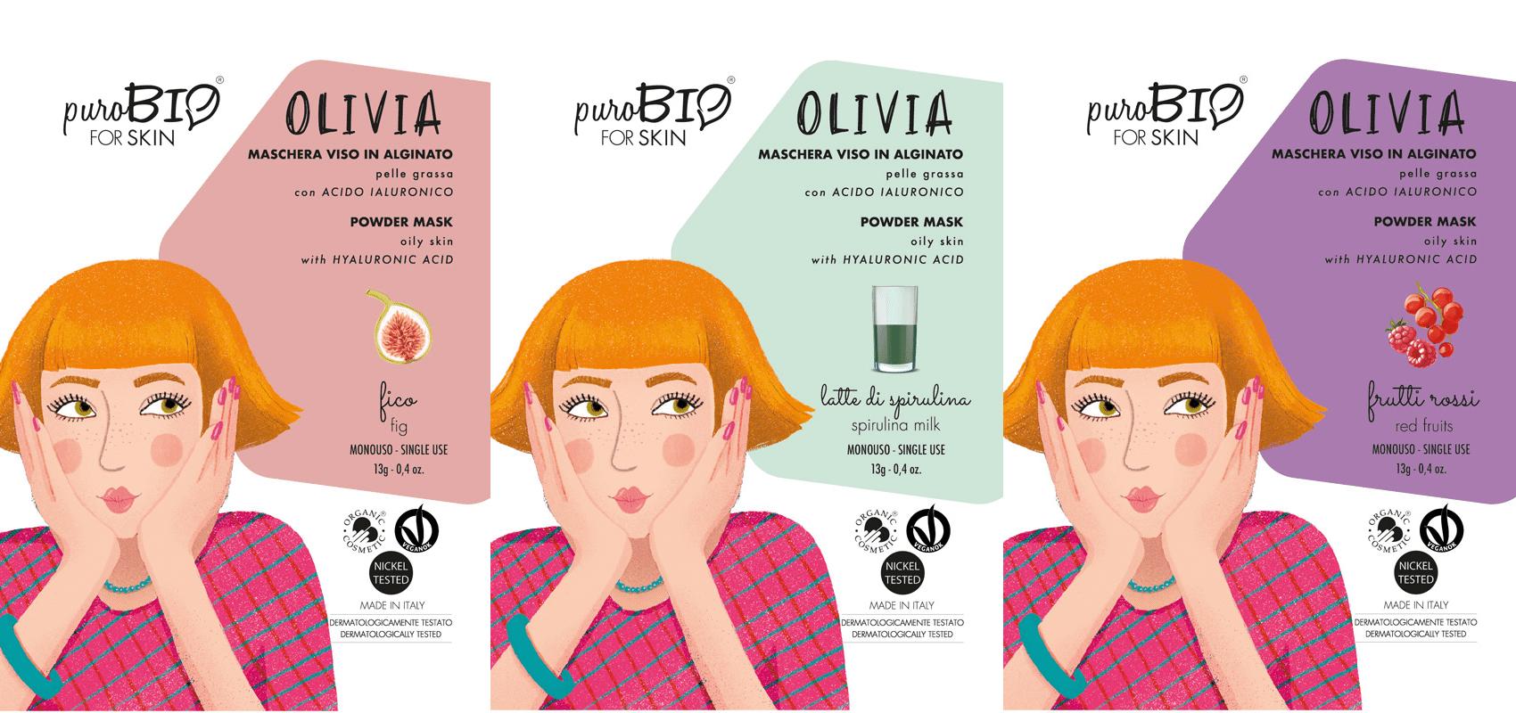 Mascarilla facial Olivia Purobio For Skin