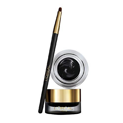 Delineador de ojos L'Oréal Paris MakeUp en gel Superlínea Gel Intenza, textura de hielo y trazo grueso para obtener un resultado óptimo, negro, paquete de 1