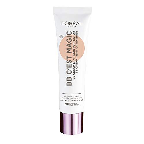 L'Oréal Paris BB Cream C'est Magic, Crema BB Hidratante y uniformes, Color 02 Light