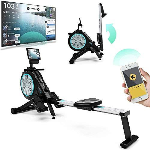 Remeros de aire Bluefin Fitness Blade para el hogar Doble resistencia al aire magnética + Kinomap |  Transmisión de vídeo en directo |  Entrenamiento y formación Consola de fitness ...