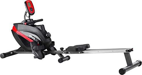 Remadores doméstica SportPlus, sistema de frenado magnético silencioso sin mantenimiento, masa del volante de aproximadamente 8 kg, ordenador de entrenamiento con receptor de pulsos ...