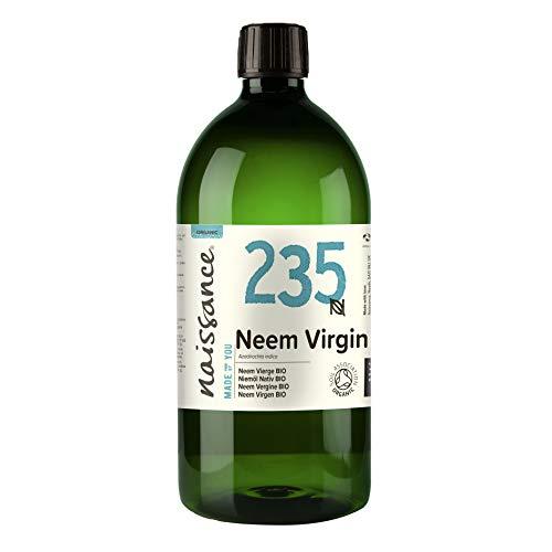 Aceite de neem virgen prensado en frío orgánico certificado Naissance 1L - 100% puro y natural, sin veganos ni sin transgénicos