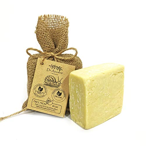 Barra de jabón natural tornillo orgánico hecha a mano antigua tradicional: anti envejecimiento, eficaz para el acné y la piel, sin productos químicos, jabón puro ...