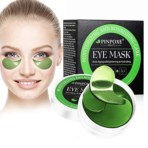 Máscara para los ojos, parche para los ojos, máscara para los ojos de colágeno, máscara para los ojos, almohadillas para las algas, máscaras de hielo para los ojos: hidratantes, antiarrugas, antienvejecimiento, círculos ...