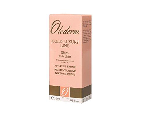 Línea de renacimiento Oloderm: suero de manchas • Ácido kójico • Vitamina A • Vitamina E • Vitamina C • Ácidos de la fruta • Hecho en España