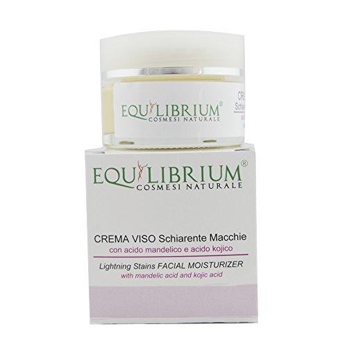 EQUILIBRIUM - COSMÉTICOS NATURALES Crema para la cara aclaratoria de 30 ml con ácido mandélico y ácido kójico