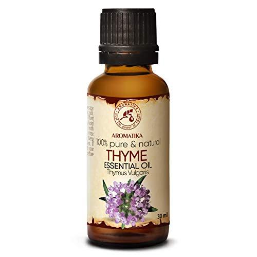 aceite esencial de tomillo 30 ml - Timo vulgaris - Austria - El aceite de tomillo natural se utiliza en baños aromáticos - Saunas - Inhalaciones - Masajes - Cuidado del cuerpo ...