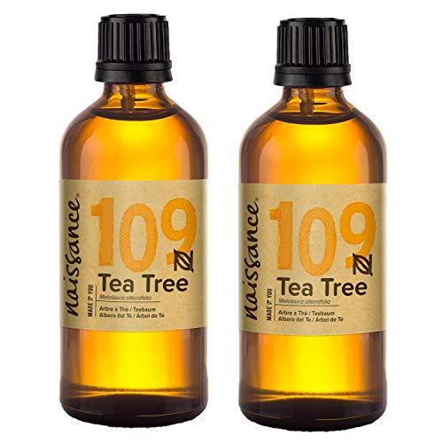 Aceite de árbol de té Naissance - 100% aceite esencial puro - 200 ml (2x100 ml)