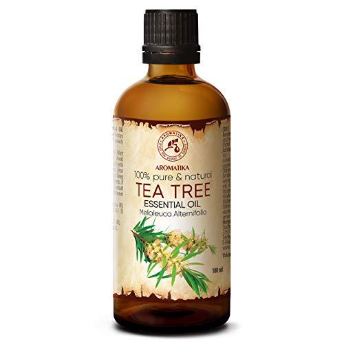 Aceite esencial del árbol del té 100 ml - Aceite de hoja de Melaleuca Alternifolia - Australiano - 100% natural y puro - Aromaterapia - Relajación - Difusor ...