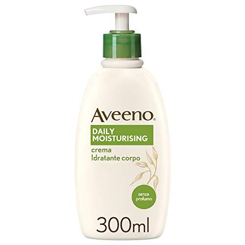 Crema hidratante corporal Aveeno, hidratante diaria para pieles sensibles, 300 ml