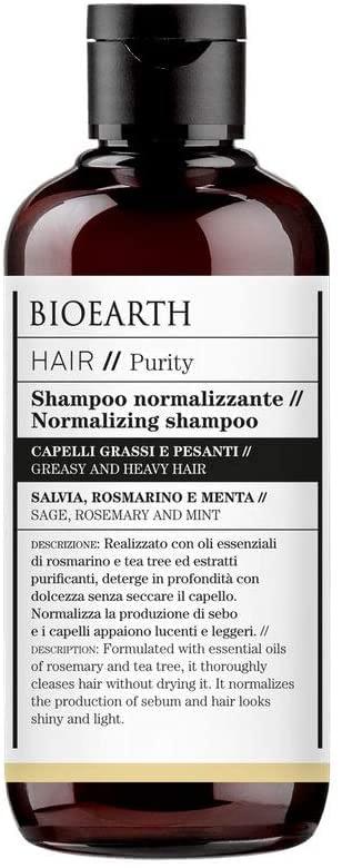 Champú normalizando Bioearth Hair 2.0 para cabellos grasos y pesados