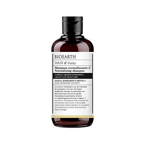 Champú normalizando Bioearth Hair 2.0 para cabellos grasos y pesados - 250 ml