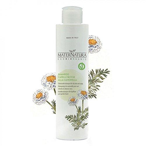 Champú Maternatura para la piel y los cabellos secos Aloe Vera y manzanilla - Ideal para lavados frecuentes y pieles sensibles - Vegano, níquel probado - 250 ml