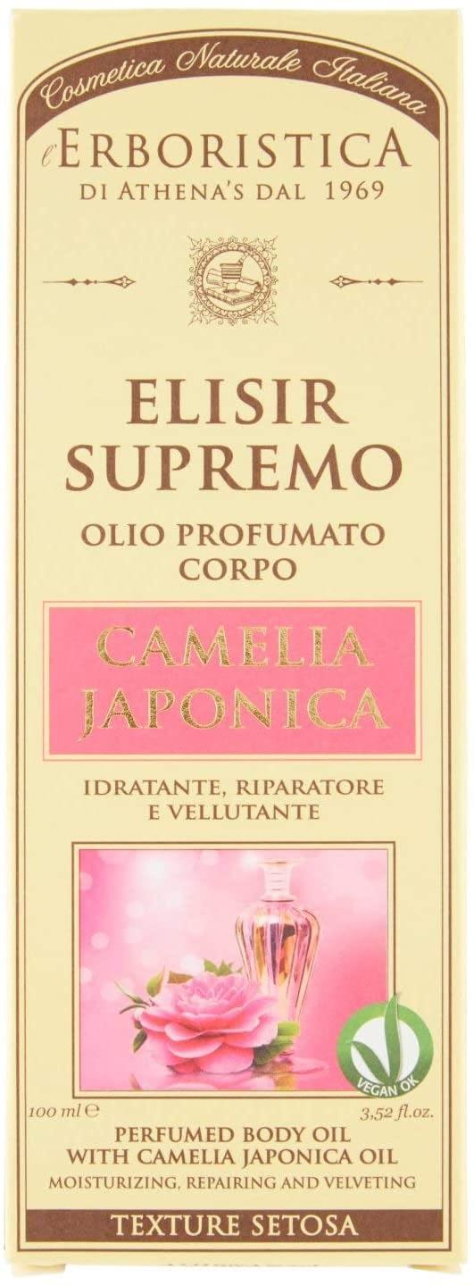 Aceite corporal perfumado supremo de Elixir a base de hierbas de Athena Camelia Japonica
