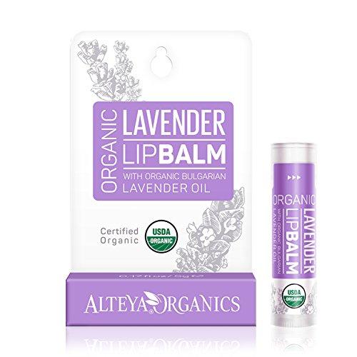 Bálsamo de labios orgánico Alteya con aceites esenciales de lavanda búlgara 5 g - cuidado de los labios reestructurando bio orgánico bio certificado USDA en forma de ...
