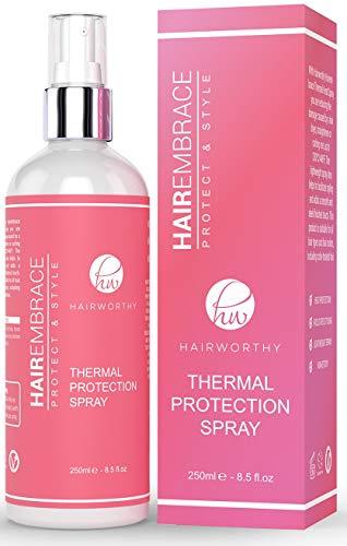 Spray de protección capillos capaz de peinar para un estilo térmico.  Recupera el brillo de su cabello, sin rizos, protégeme el y estilizado-lo.