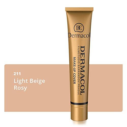 Fundación de cobertura completa Dermacol DC |  Corrector de crema impermeable de larga duración SPF30 |  Corrector hipoalergénico y ligero |  Cover Tattoo, acné y ...