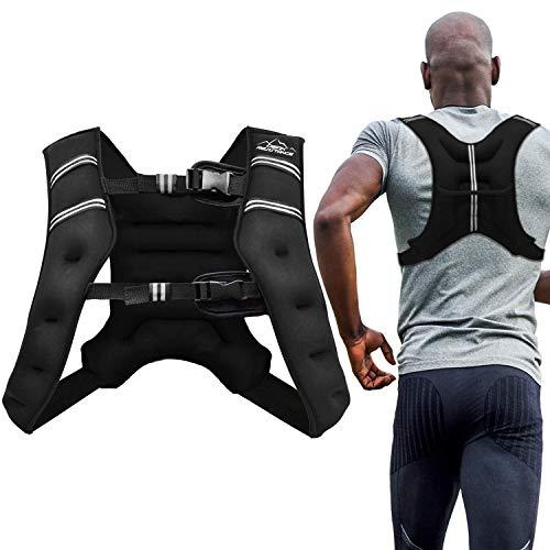 Adur Sport - Chaleco de entrenamiento ponderada, 1,8 kg / 2,7 kg / 5,4 kg / 9,1 kg / 11,3 kg de peso corporal para hombres, mujeres y niños (9,07 kg)