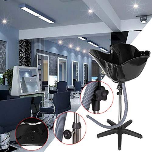 Samgar Samgar Champú portátil ajustable en altura Lavabo para pelo Bowl Herramienta de tratamiento de peluquería